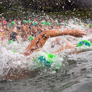 Jane swims the Cole Classic for cancer research