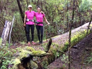 Sarah and Jemma run Bibbulmun for cancer research in Australia
