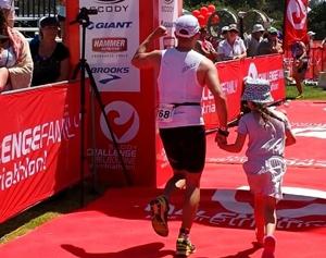 David Blumenthal smashes the Melbourne Half-Ironman Challenge!