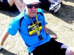 Chris runs a marathon of marathons to support those fighting cancer