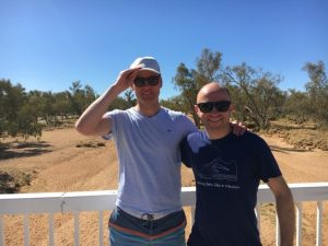 Hiking Larapinta trail for cancer research