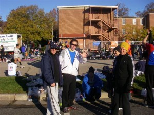 Gill Thomas at the New York Marathon for Cancer Research