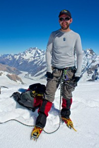 Jake takes on Mt Aspiring for cancer research