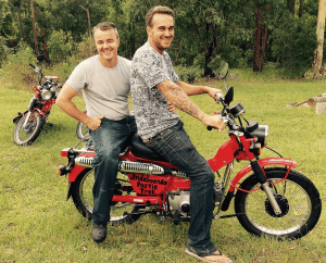 A motorcycle trek in memory of two great men