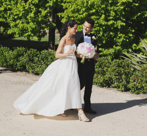 Maddie and Tom support ACRF on their wedding day