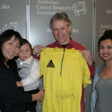 World cycling legend gets behind cancer research