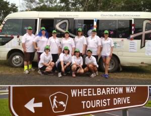 The Believers race a wheelbarrow towards an incredible cancer fundraising finish-line!