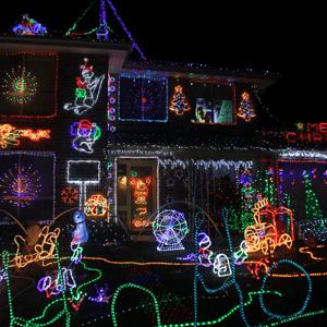 Tony turns on the Christmas lights again for ACRF