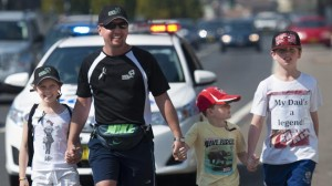 David takes 400 thousand steps for cancer research