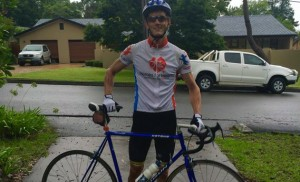 Andrew bikes it around Tassie for cancer research