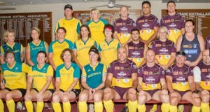 Brisbane Broncos legends hit the softball diamond to play for a cure