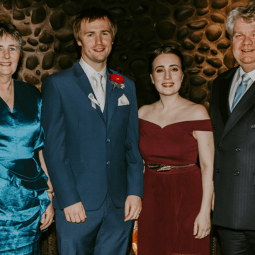 Krystina and Brendan make wedding donation to ACRF