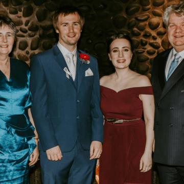 Krystina and Brendan make wedding donation to ACRF