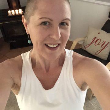 Carol Shaves her Head in Honour of Friend