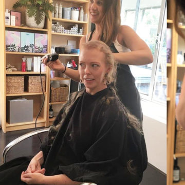 Libby Cuts her Locks for Cancer Research