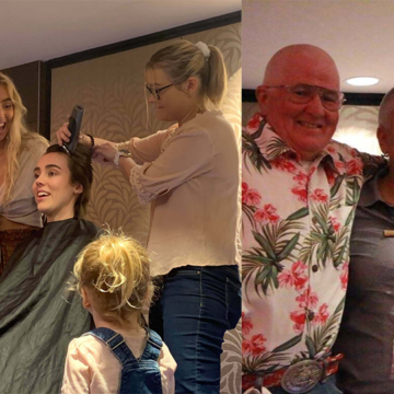Samantha Shaves 'Shiny Bald' for ACRF