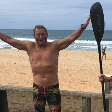 Cam swims for cancer research